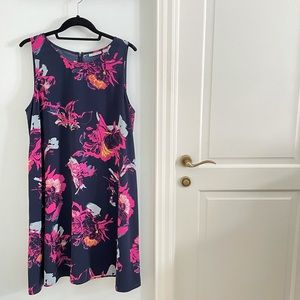 Halogen Floral Shift Dress size Large Nordstrom